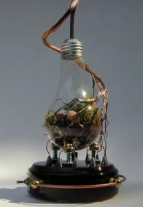 Креативные композиции с использованием лампочек