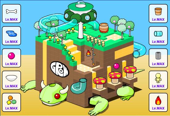 онлайновая flash-игра grow cube
