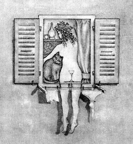Кот и рюмка, или голая женщина?