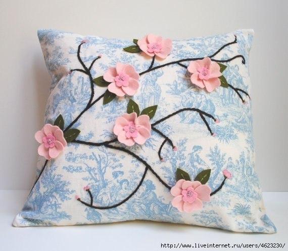 Идеи декора подушек