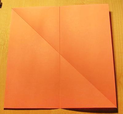 Сделать конверт из квадратного листа без клея01
