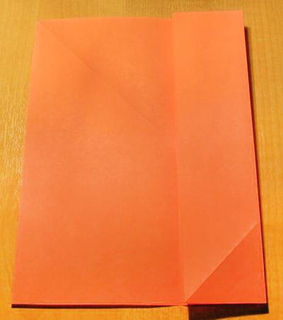 Сделать конверт из квадратного листа без клея02