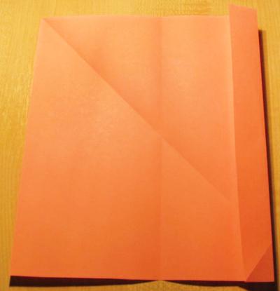 Сделать конверт из квадратного листа без клея03