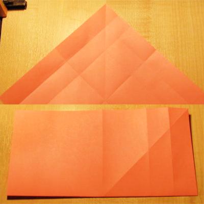Сделать конверт из квадратного листа без клея04