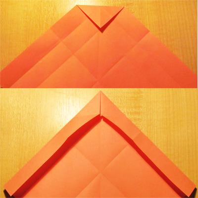 Сделать конверт из квадратного листа без клея05