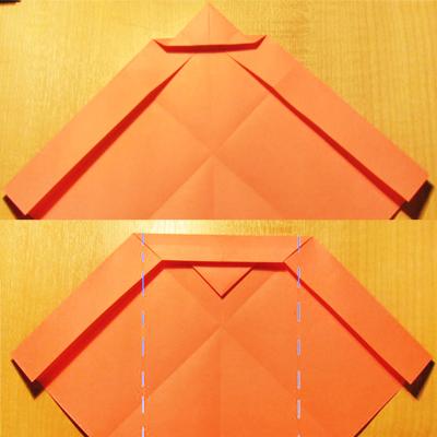 Сделать конверт из квадратного листа без клея06