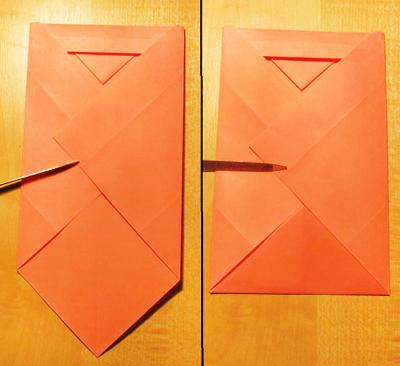 Сделать конверт из квадратного листа без клея07