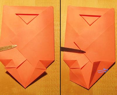 Сделать конверт из квадратного листа без клея09