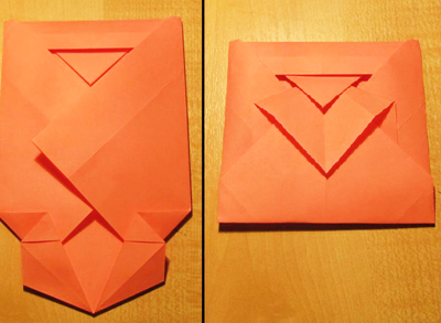 Сделать конверт из квадратного листа без клея10