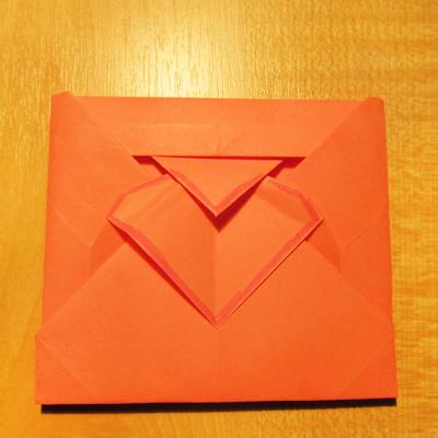Сделать конверт из квадратного листа без клея11