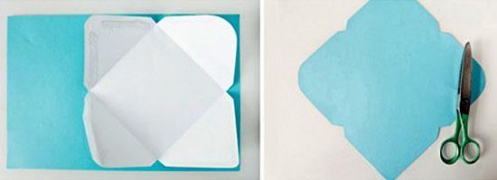Конверт из цветной бумаги своими руками