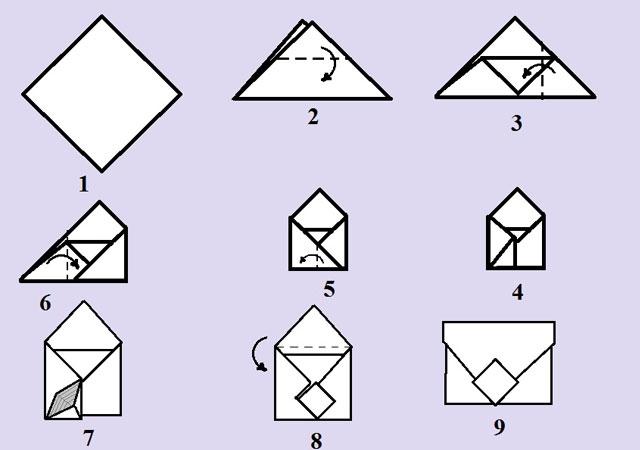 Как сделать из картона конверт фото