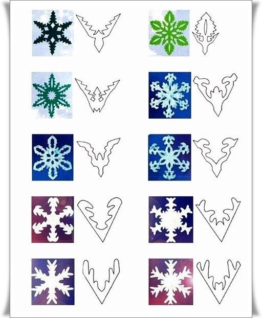 Снежинки из бумаги 01