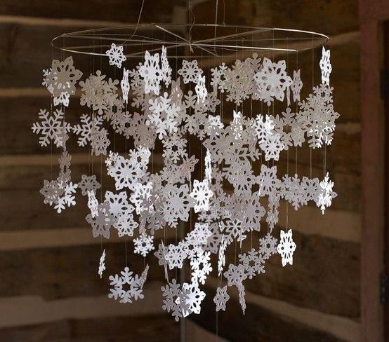 Снежинки из бумаги 2