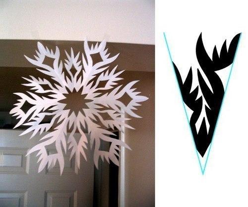 Снежинки из бумаги 3