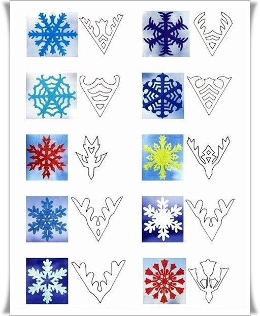 Снежинки из бумаги 03