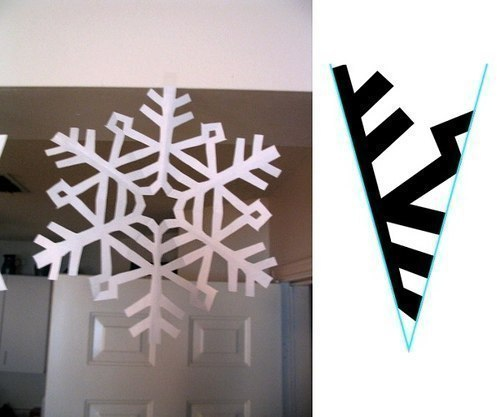 Снежинки из бумаги 4