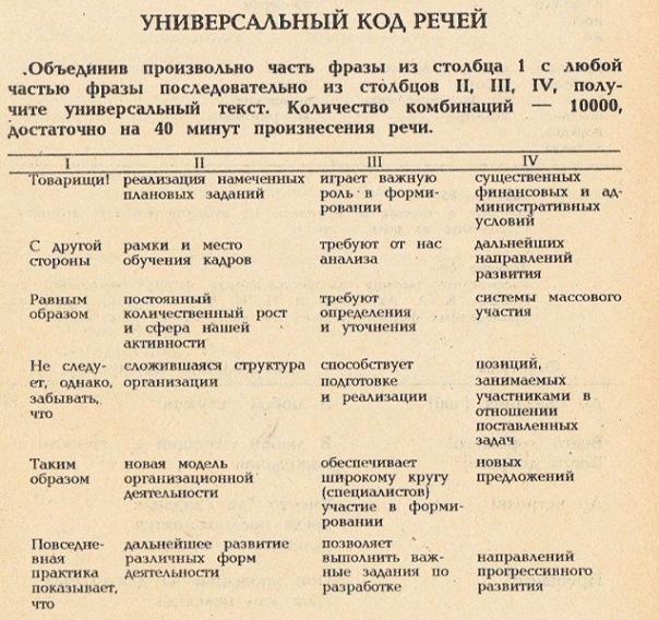 Универсальный код речи