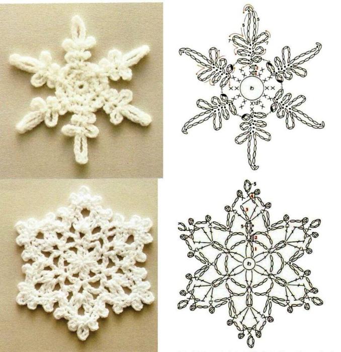 Снежинки вязаные крючком схемы