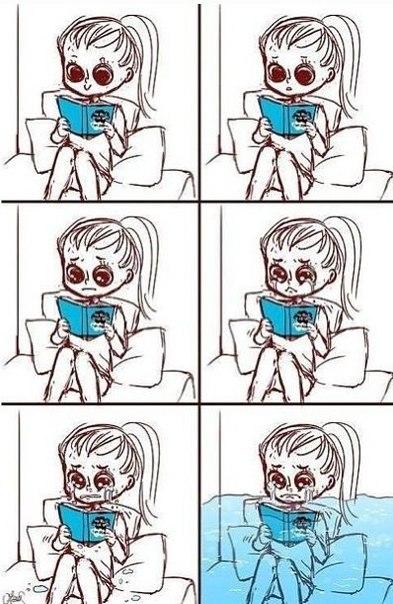 Когда девушка читает женский роман
